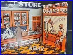 1920s Marx #184 Tin Hometown Drug Store Play Set N/m + Original Box See Others