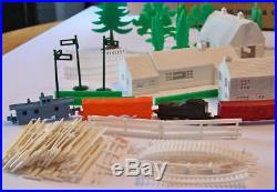 1940-50s MARX ENCHANTED VILLAGE PLAY SET ORIG. BOX, DOZENS OF ORIG. PIECES