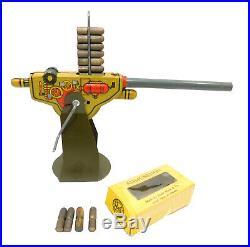 1940's MARX ANTI-TANK PLAY SET COMPLETE IN BOX EXPLODING TANKS TARGETS AMMO GUN