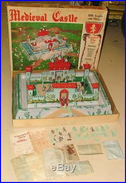 % 1950's Marx Medieval Castle With Knights Play Set In Original Box