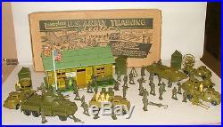 % 1950's Marx U. S. Army Training Center Play Set In Box