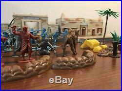 1950's Marx Captain Gallant Play Set Tin Litho Fort Accessories Camel Soldiers