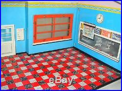 1950's Marx Little Red Schoolhouse Tin Building, Original with all accessories