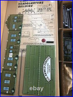 1950's Marx'U. S. ARMED FORCES TRAINING CENTER' Play Set. Unassembled, New In Box