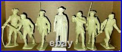1950s MARX AMERICAN HEROES S1 Gen Washinton & Revolutionary War Soldiers withbox