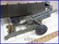 1950s MARX LUMAR US ARMY Play Set Toy Searchlight Howitzer Soldiers Transport