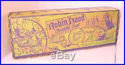 1950s MARX ROBIN HOOD CASTLE PLAY SET #4719 BOXED