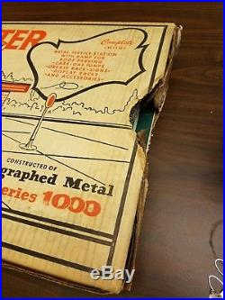 1950s MARX Tin Litho Modern SERVICE CENTER NOS With Box NEVER BEEN SET UP