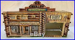 1950s Marx Rin Tin Tin Fort Apache Playset #3658 Series 1000