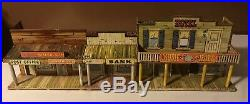 1950s Marx Roy Rogers Mineral City Western Town Play Set Tin Litho Building