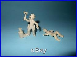 1950s Marx Roy Rogers Ranch Play Set Kids in White Vinyl