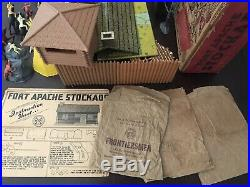 1950s Vintage Marx FORT APACHE STOCKADE Playset with BOX #3609