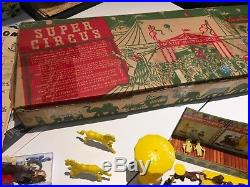 1952 Louis Marx Super Circus tin litho play set 4319 with box almost complete