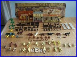 1952 MARX Roy Rogers Western Town (Jail Side) Playset #3948 94% comp. In Box