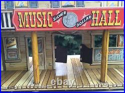 1952 Marx Roy Rogers Mineral City Tin Litho Western Town & Access. Playset Toy