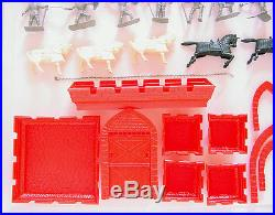 1955 Marx Prince Valiant Castle Fort Play Set Boxed Flat Tin Rare 1 Year Issue