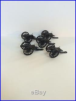 1956/1960 Marx Alamo set of firing cannons