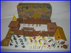 1956 Marx #3628 Rin Tin Tin at Fort Apache Play Set in Box Nearly 100% complete