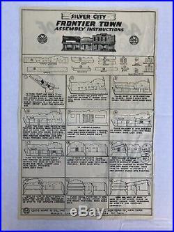 1956 Marx SILVER CITY FRONTIER TOWN Playset #4220. Complete. Original Mint Set