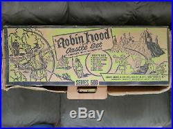 1956 Vintage Robin Hood Castle Set Marx Playset in Box #4723 Series 500
