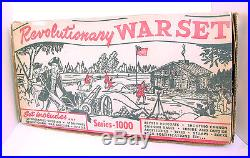 1957 Marx Revolutionary War Play Set Series-1000 #3404 Boxed! Top Condition
