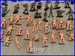 1959 Marx Battleground Playset #4749 Series 500 + Marine Beachhead Extras