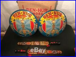 1959 Marx Ben Hur Two Swords, Scabbards & Shields Toy Playset Mint in Box
