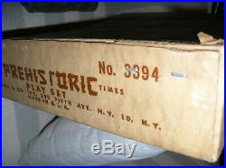 1959 Marx Prehistoric Times Play Set Dinosaurs 3394 Box Booklet Magic Marxie Toy