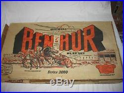 1959 Number 4702 Marx Official Ben Hur Play Set Series 2000 in original box