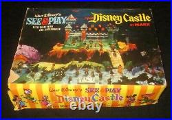 1960 Marx Disney See & Play Castle with40 SEALED Disneykins Set, near complete