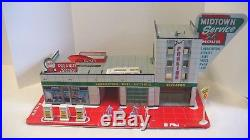 1960 Marx Midtown Service 24 Hrs No. 3496 Tin Litho Accessories