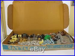 1960's Marx Battle of the Blue & Gray Playset 180+ Pc VF Clean Near Compete NR