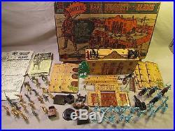 1960's marx playset boxed 54mm Walt Disney Davy Crockett at alamo flag pegs fort
