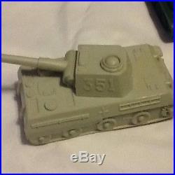 1960's marx playset boxed 54mm ww2 battleground army german tank solders guns