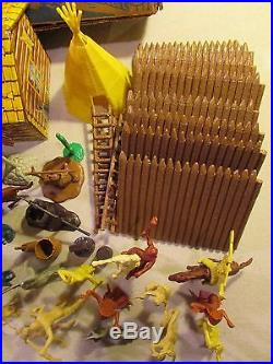 1960's marx playset boxed 60mm rin tin tin fort apache cowboy indian troopers