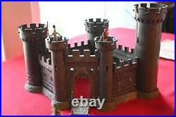1960s Marx Knights and Vikings playset. Hand Painted men, castle & drawbridge