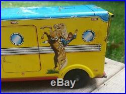 1960s Marx Roy Rogers Hauler & Trailer Tin Litho Truck Figures Horses Saddles