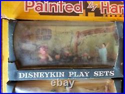 1961 Disneykin 1st Series Store Display 6 Disney Play Sets Mini Figures by MARX