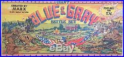 1961 MARX'GIANT BLUE & GRAY' CIVIL WAR PLAYSET. Complete. All Original Contents