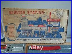 1961 MARX Service Station Playset #3486 near complete in C-5 Box