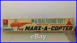 1961 Marx A Copter Sikorsky flying Helicopter Play Set NMIB Complete