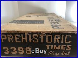 1961 Marx PREHISTORIC TIMES Playset #3398. All Original Contents Excellent