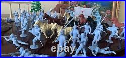 1961 Marx Toys- Giant Blue and Gray Battle Set- 154 Pieces- See Details