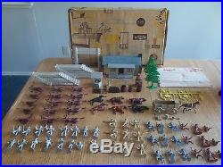 1962 MARX Allstate Ranch Playset #5950 99% complete in Box withInstructions
