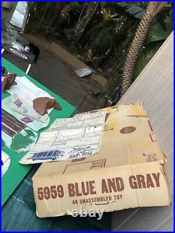 1962 Marx 5959 BLUE & GRAY Playset. Complete Original Contents Unassembled