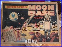 1962 Marx Operation Moon Base #4654 Playset. With Original Bags
