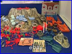 1962 Marx Operation Moon Base Playset Contents Mint In box