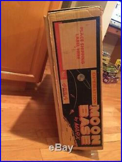 1962 OPERATION MOON BASE PLAYSET BY MARX WithORIG BOX & INSTRUCTIONS GREAT SET