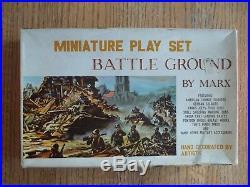 1963 MARX Miniature Battleground Playset 100% complete in C-8 Box NM