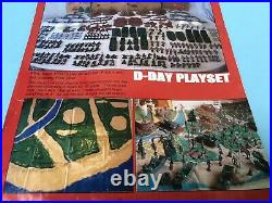 1963 Marx D-DAY Playset Play Mat. Vibrant Lithography. Very Large. HTF